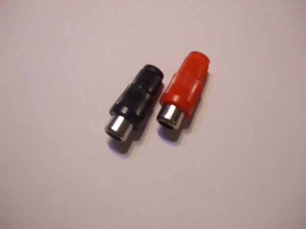 Schulz Kabel RCA Buchse plastik S296 Chinch Buchse plastik in rot oder schwarz