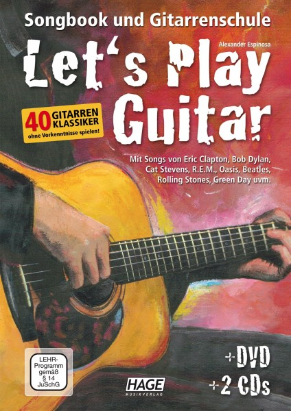 Let's Play Guitar Band 1 Songbook und Gitarrenschule Band 1 + DVD + 2 CDs