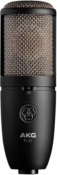 AKG P420 Großmembranmikrofon mit 3 schaltbaren Richtcharakteristiken.