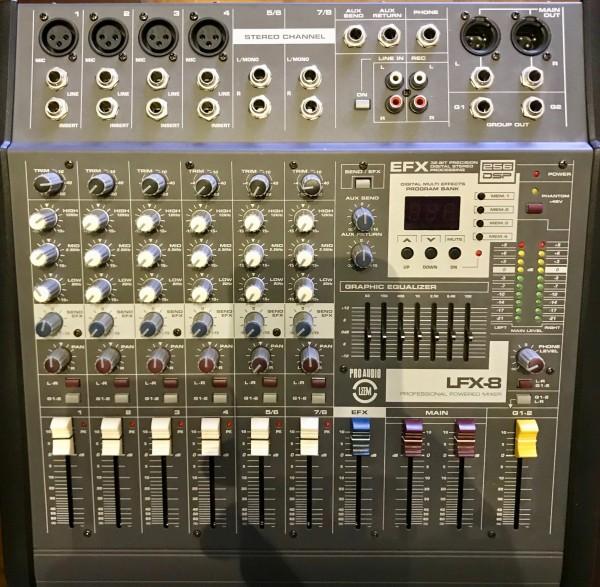Leem 8 Kanal Power Mixer LFX 8