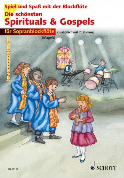 Die schönsten Spirituals & Gospels sehr leicht bearbeitet für Sopranflöte