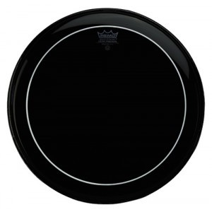 "Remo Tom Fell 8"" Pinstripe Ebony"