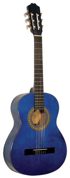 Kinder Konzertgitarre Kirkland Mod.34 Blau 3/4