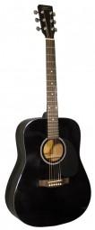 Kirkland Westerngitarre Mod. 21 Hochglanz schwarz