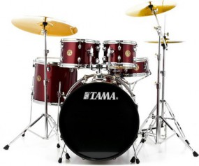 Tama Rhythm Mate Studio Drum Set Wine Red